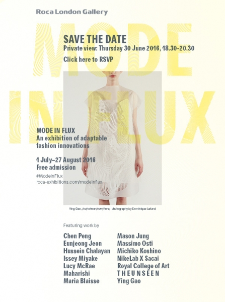 Mode In Flux: An exhibition of adaptable fashion innovations