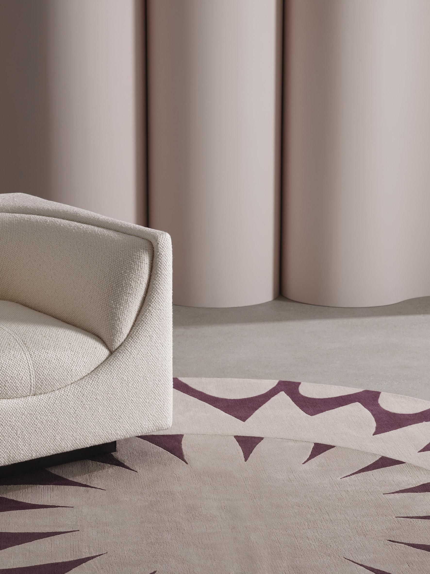 Deirdre Dyson MAGNIFY bespoke hand knotted wool and silk rug. Copyright Deirdre Dyson Carpets Ltd