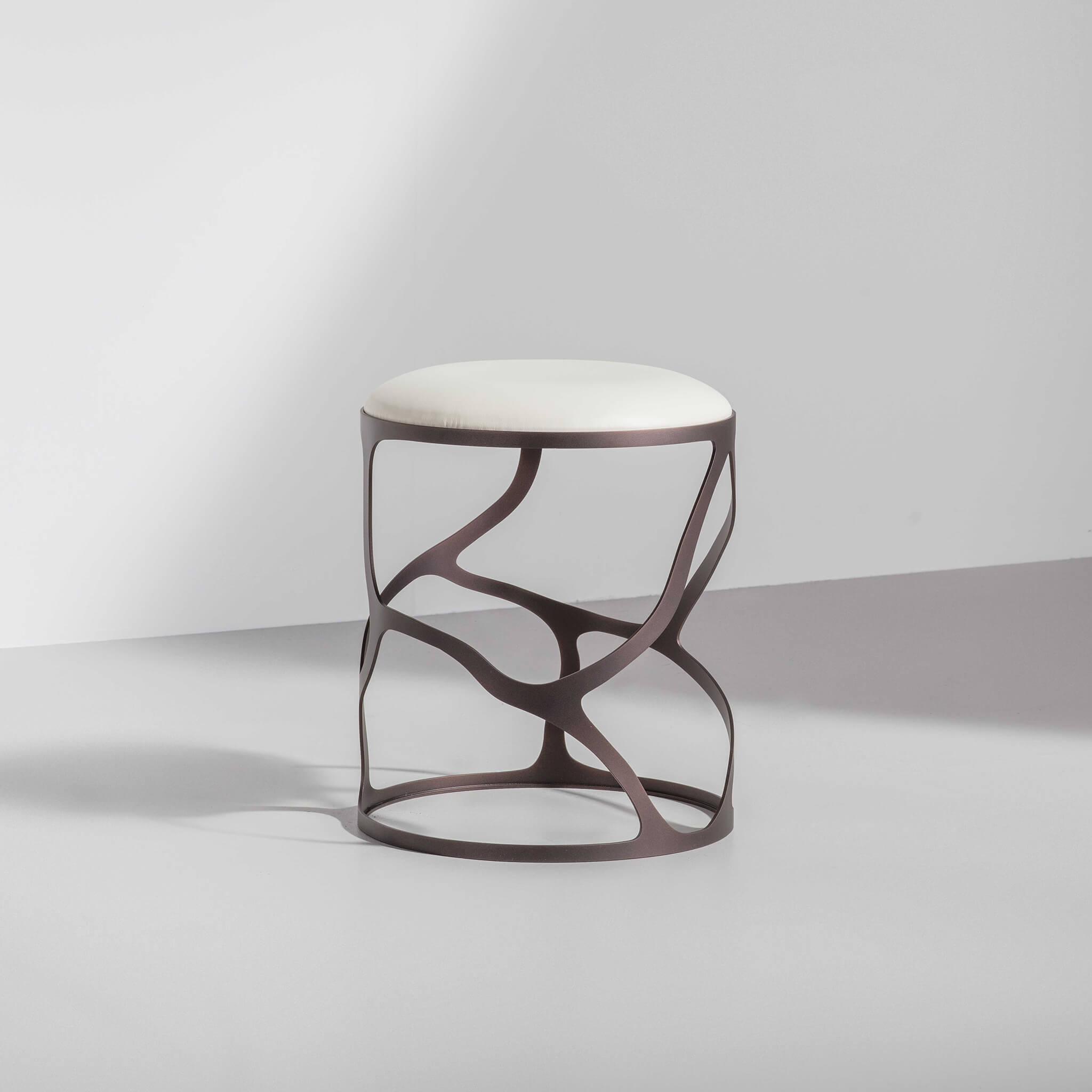 Papillon side stool Bronze PC